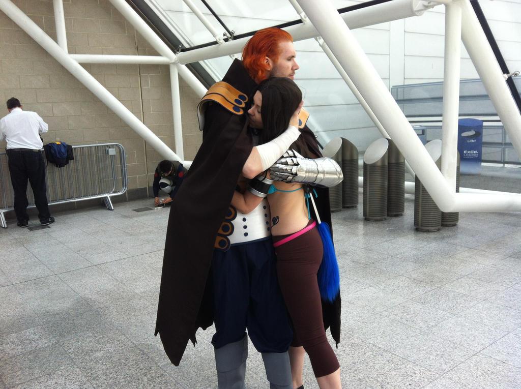 Cana and Gildarts Hug by SynchroSaviourYusei