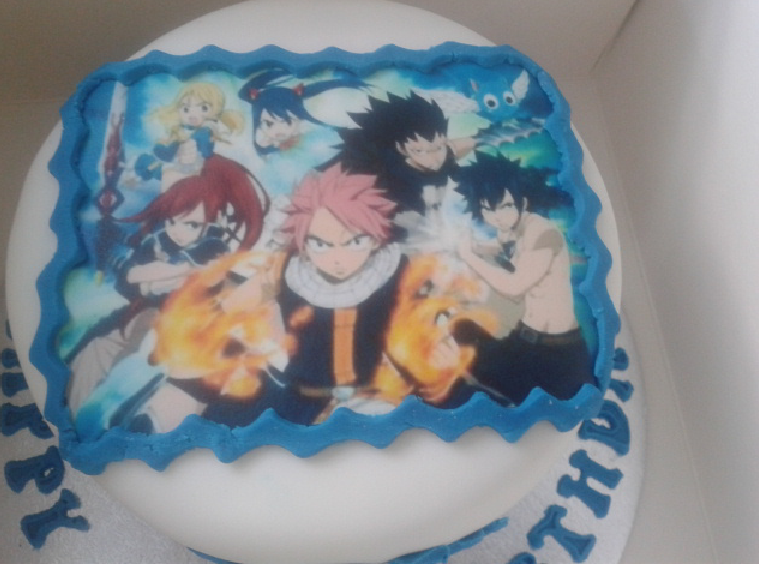 My Fairy Tail B Day Cake By Synchrosaviouryusei On Deviantart