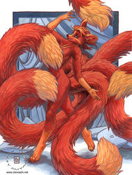 Dance of Five Tails by KaceyM