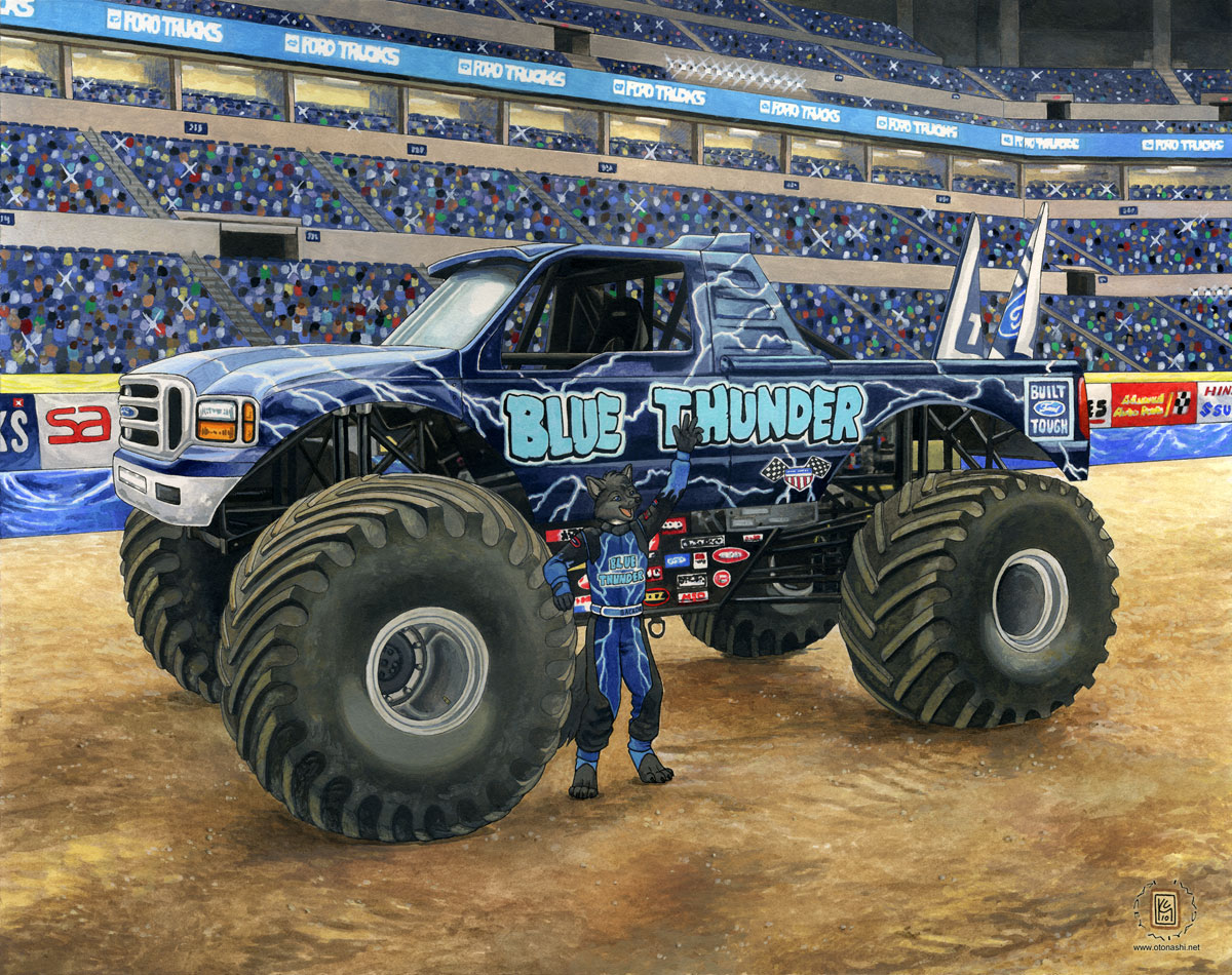 Blue thunder truck for Ford motor company truck division
