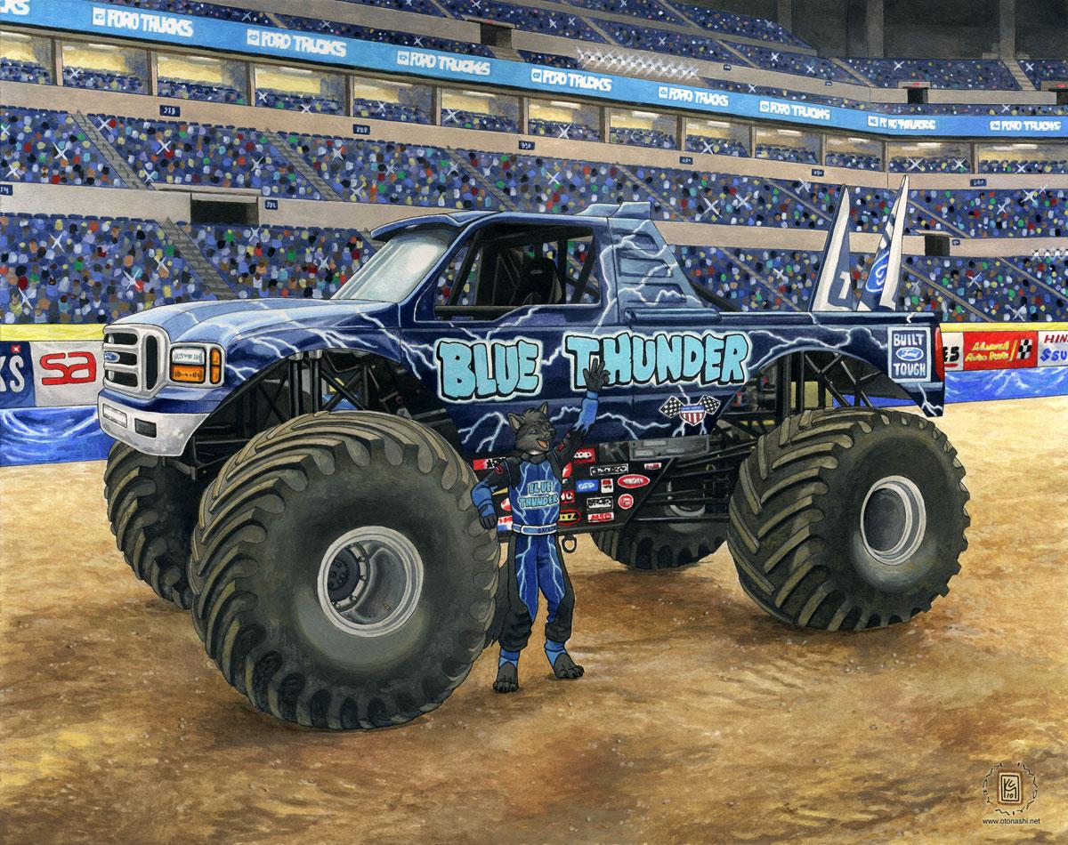 Blue thunder monster trucks