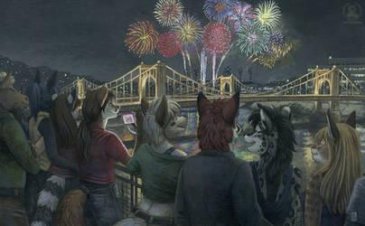 Fireworks Show by KaceyM