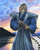 Tiger Samurai - FCN flyer art by KaceyM