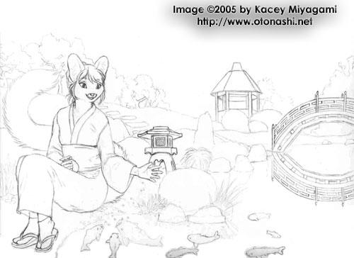 Echo Koi Pond Sketch By Kaceym On Deviantart