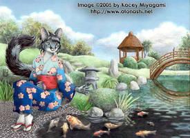 Echo at the Koi Pond by KaceyM