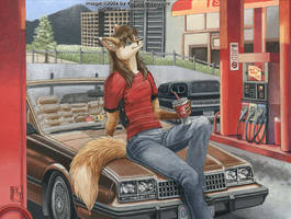 Gas Station by KaceyM