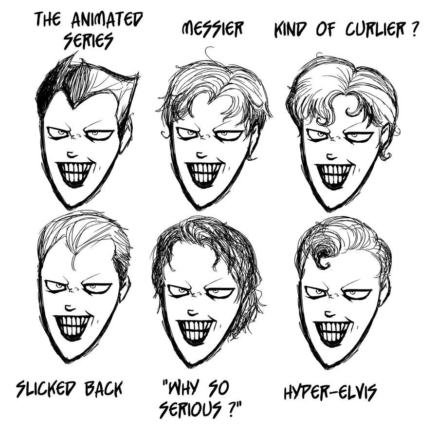 joker cartoon how to draw