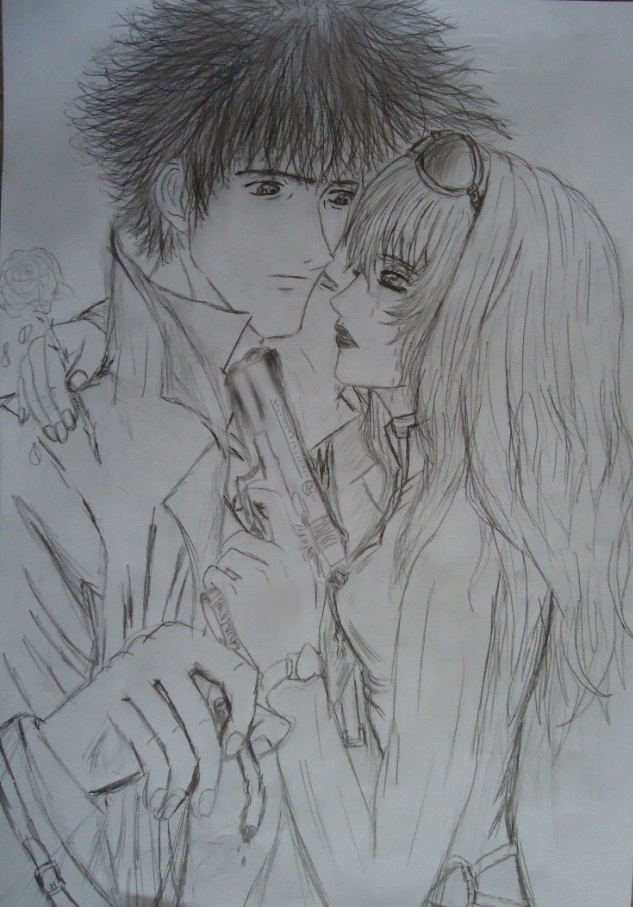 Julia and Spike (Cowboy Bebop) by 000SkyArrow000