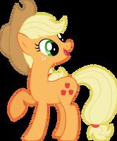 Applejack is Happy by elegantmisreader