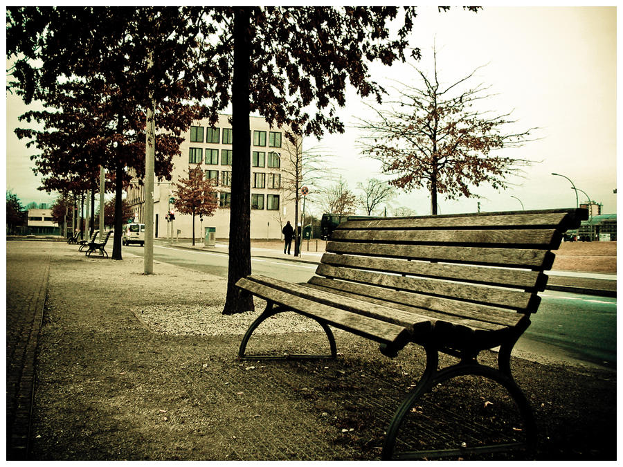 Lonely Bench by aquanova27