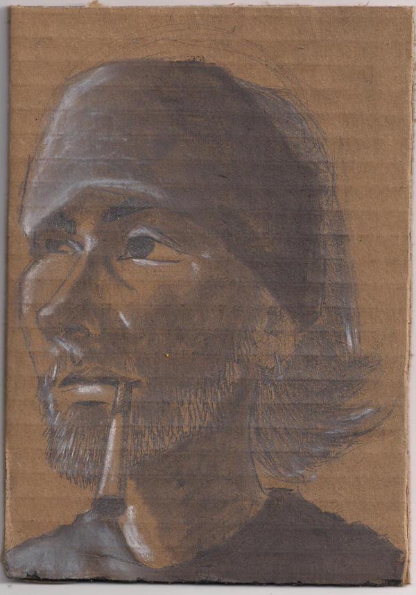 smoking self portrait by xndrdmnky