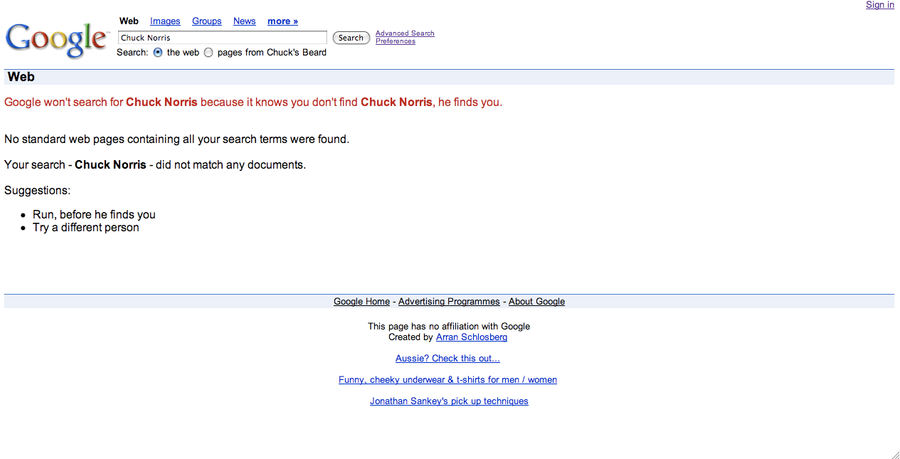 finde chuck norris