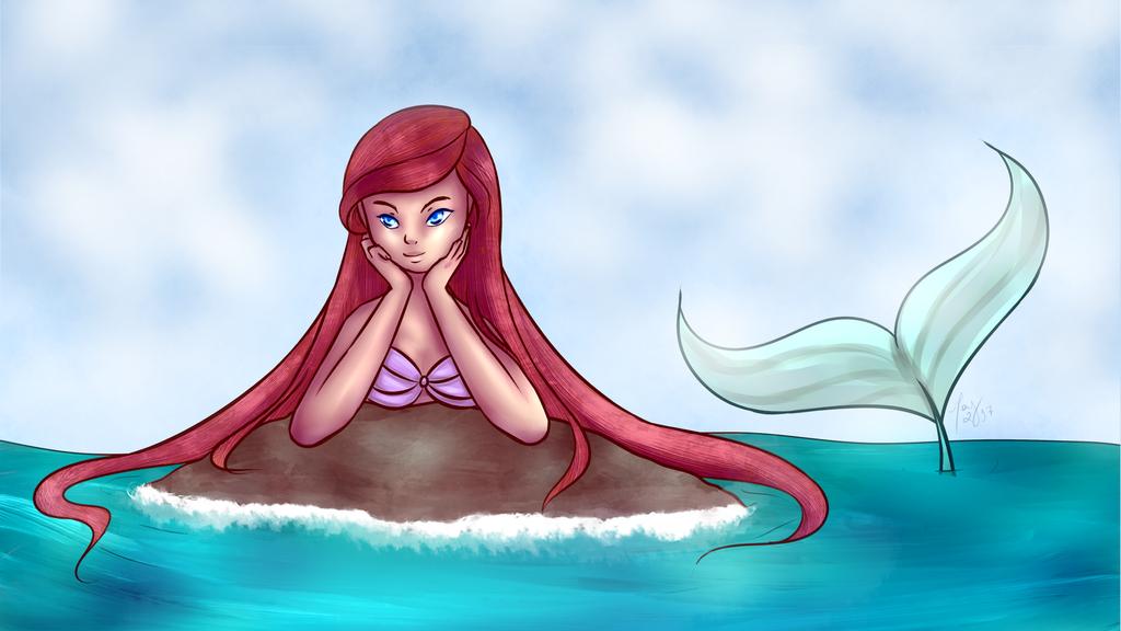 [Fanart] Ariel - The Little Mermaid by mayhigurashe