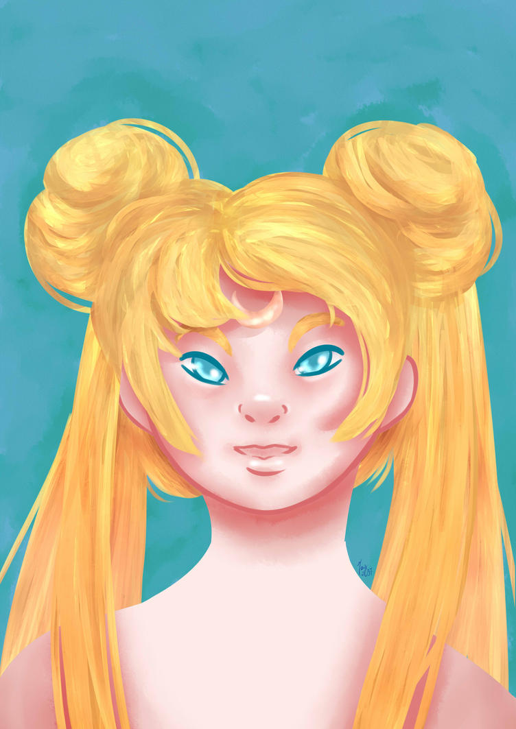 [ Sailor Moon Portraits ] Usagi by maybarros