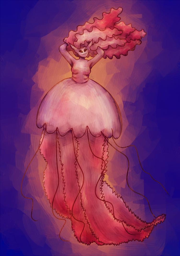 MerMay 2018 - Jellyfish Mermaid by maybarros