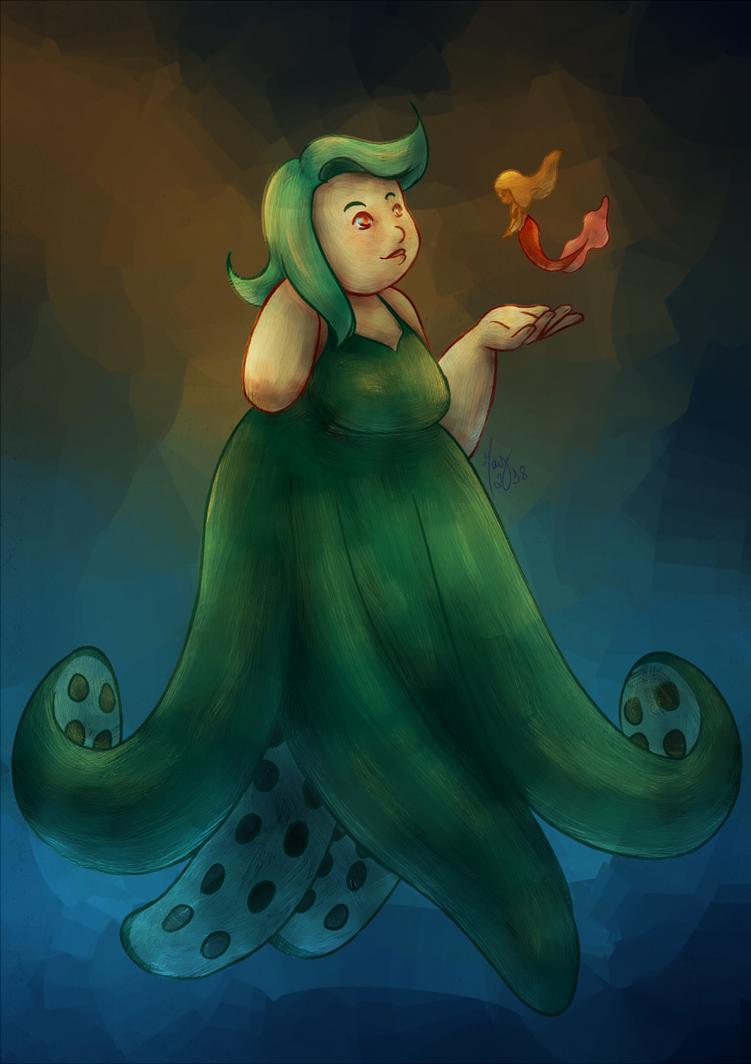 MerMay 2018 - Octopus Mermaid by maybarros