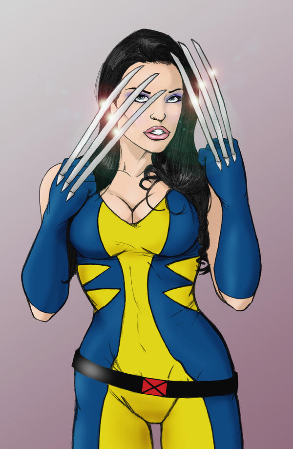 Aletta Ocean as Wolverine by wildpegasus13