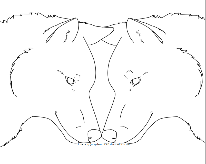 Simple Wolf Lineart : Pin easy emo drawings love ajilbabcom portal on pinterest