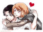 Attack On Titan Rivaille and Petra Rall
