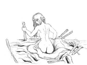 Elf in Very Thick Mud (sketch) by Billie-Bonce