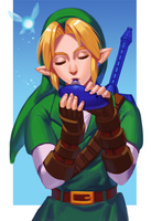 Playing an Ocarina by Carcoiatto