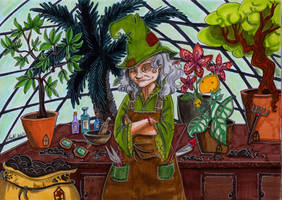 professor Sprout by Agatha-Macpie