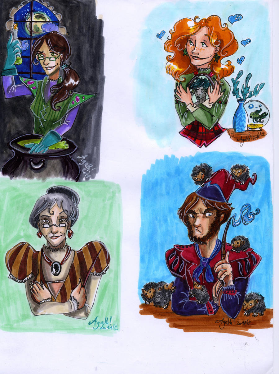 chocolate frogs cards 2 by Agatha-Macpie