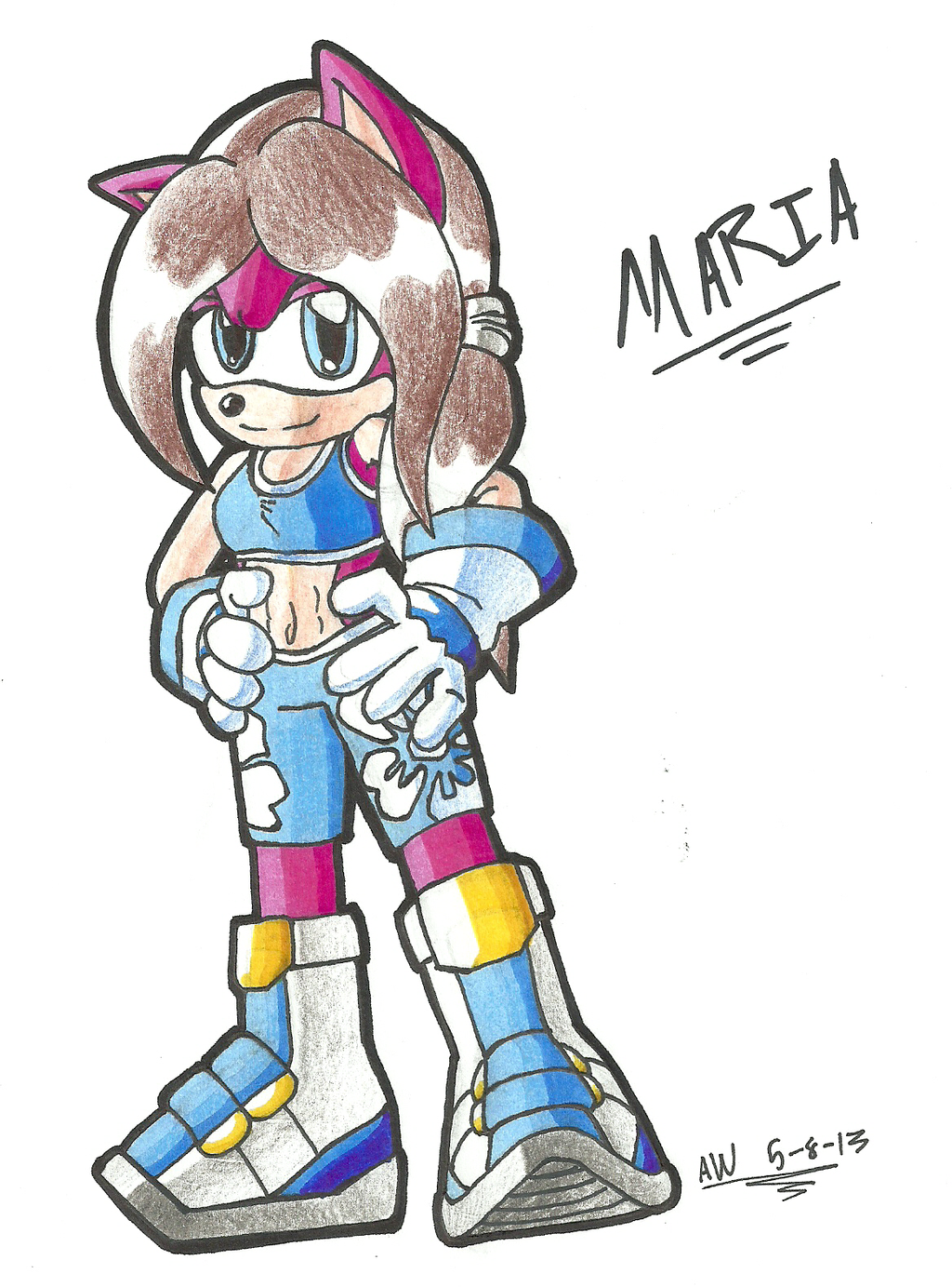 *POINT-COMMISSION*:  Sonic Riders Maria by Armpit-Warrior