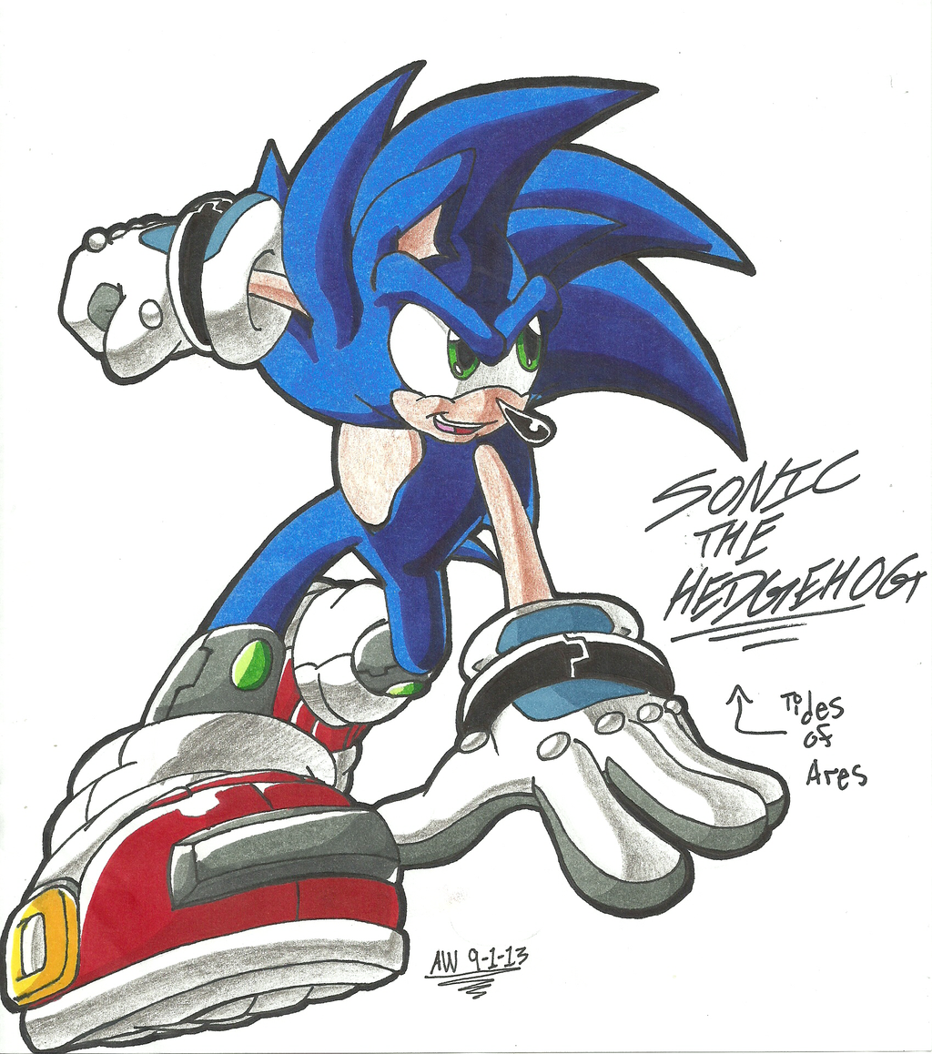 *TIDES OF ARES*:  Sonic the Hedgehog by Armpit-Warrior