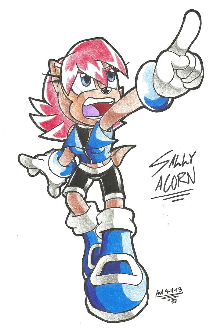 *SONIC OC*:  Sally Acorn [New Design](2) by Armpit-Warrior