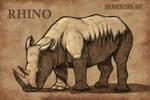 Rhino Sketch by KaiVenturaArt