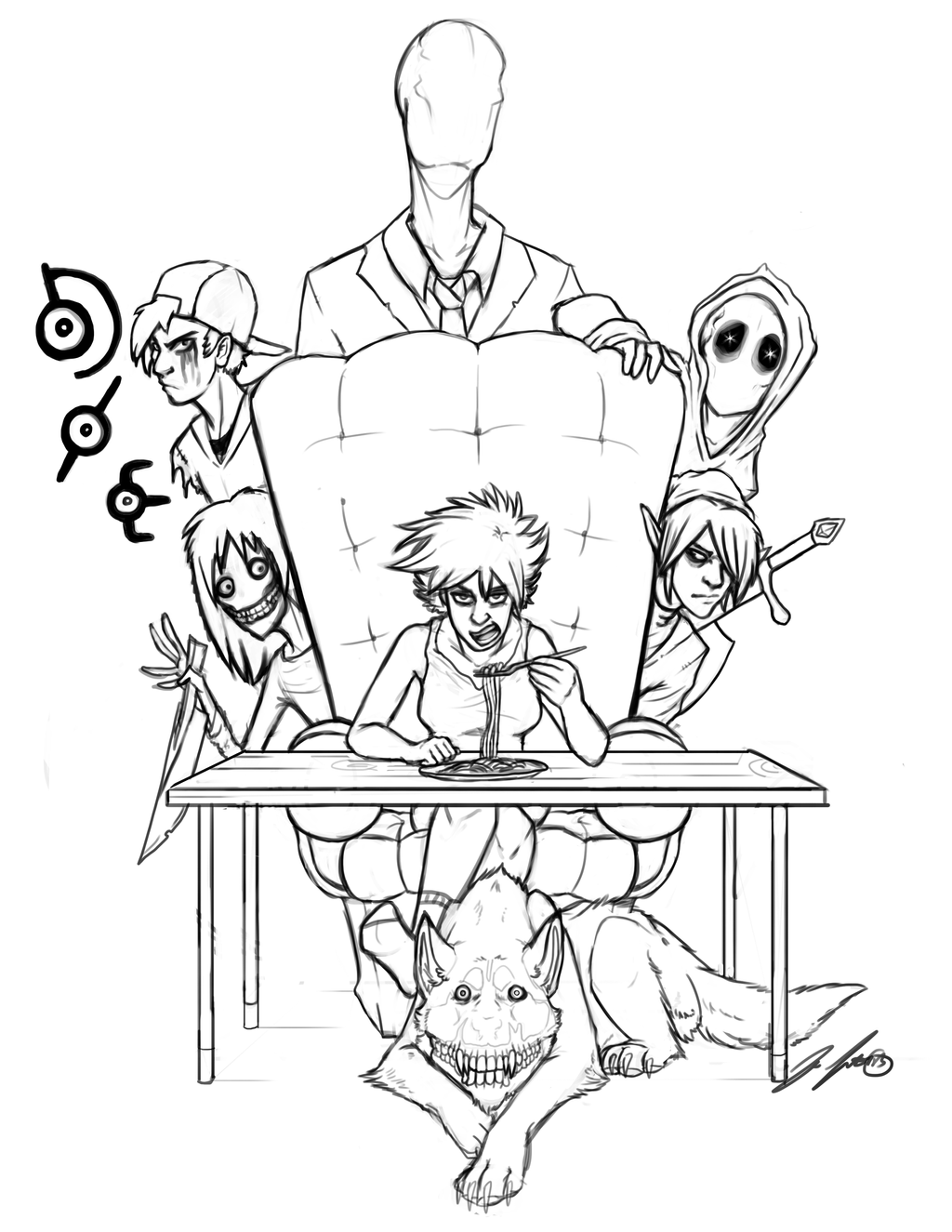 creepypasta coloring pages online - photo#13