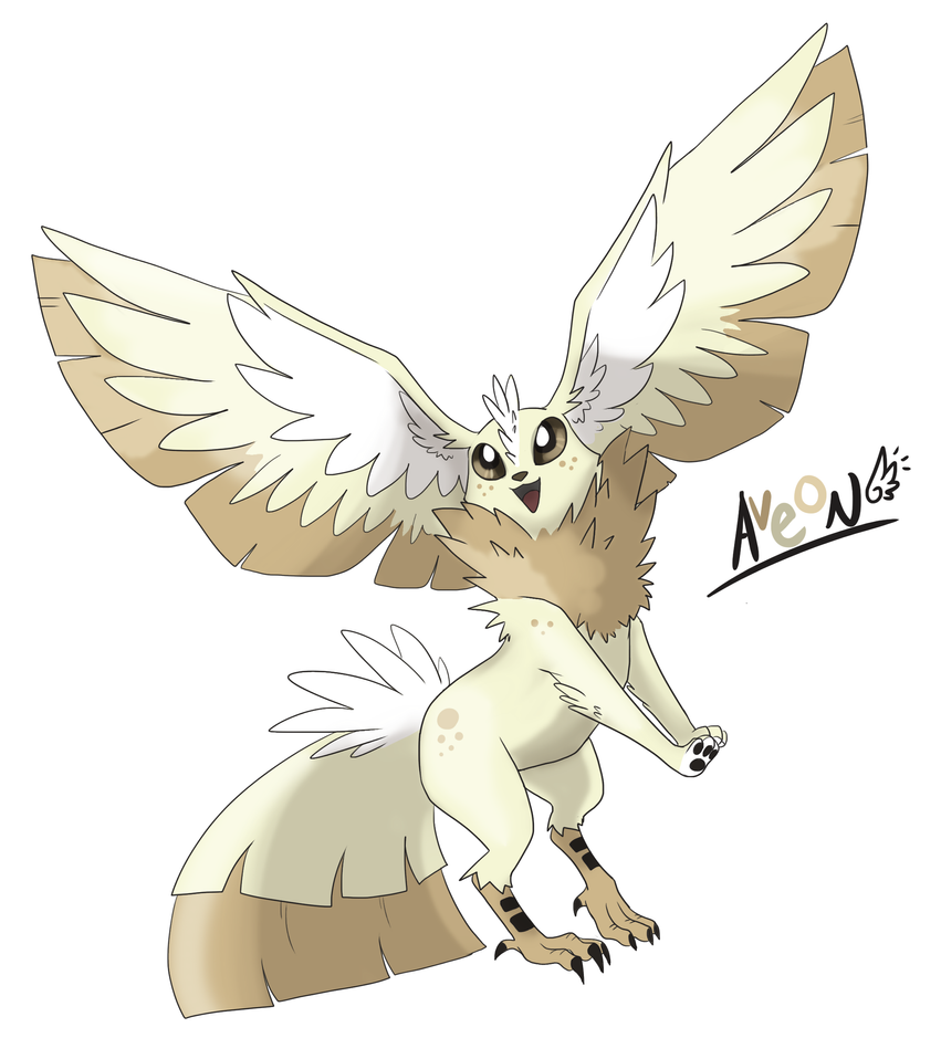 Eeveeloution: Flying-Type Aveon by Galefaux