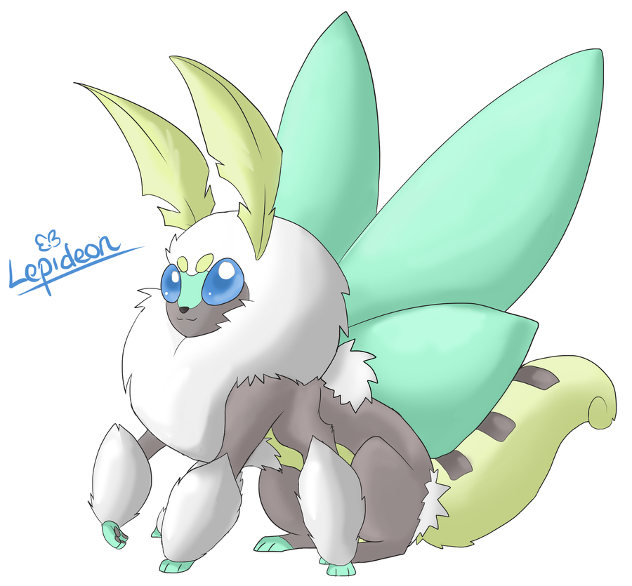 Eeveeloution: Bug-Type Lepideon by Galefaux on DeviantArt