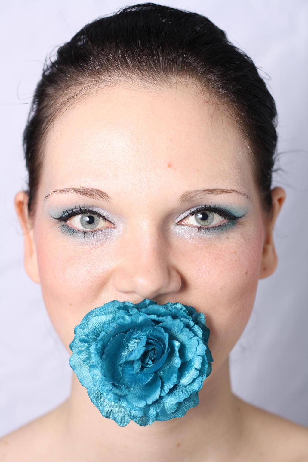 turquoise rose by Vivian-Erika