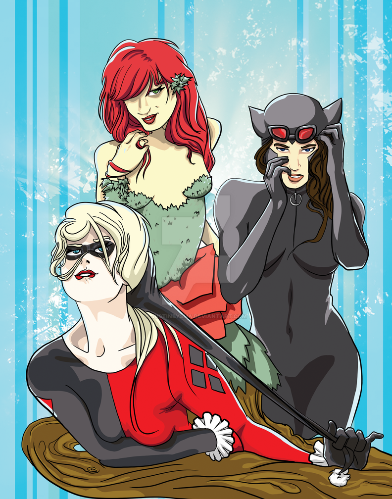 Gotham City Sirens by justinbysma