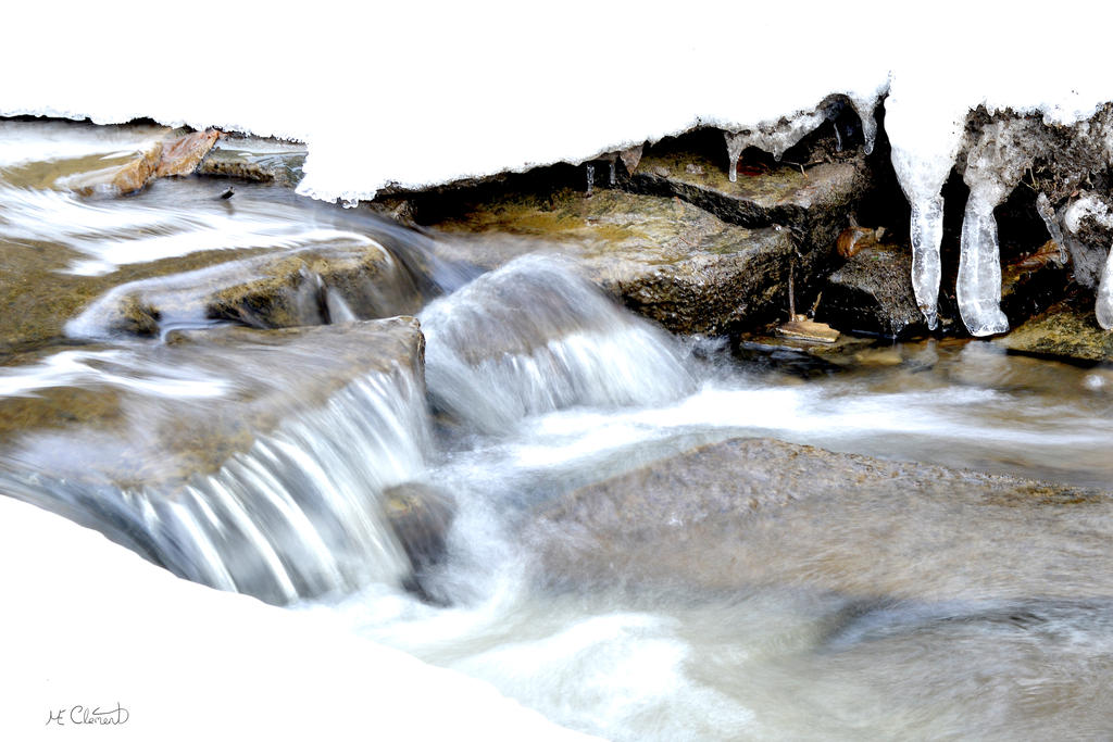 Magical snow melting by Spid4