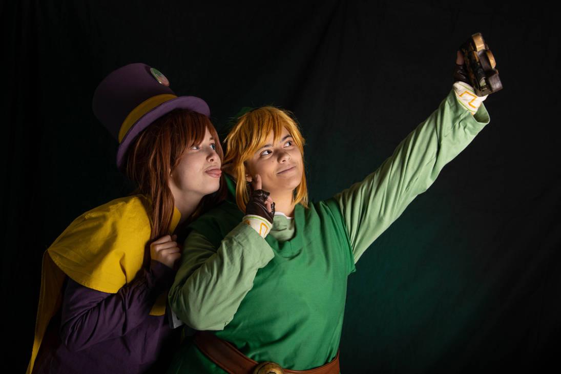 Friendship - Crossover  Zelda -a hat in time by Grenier-Illiane