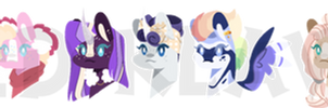 tbnverse but its only mane six heads