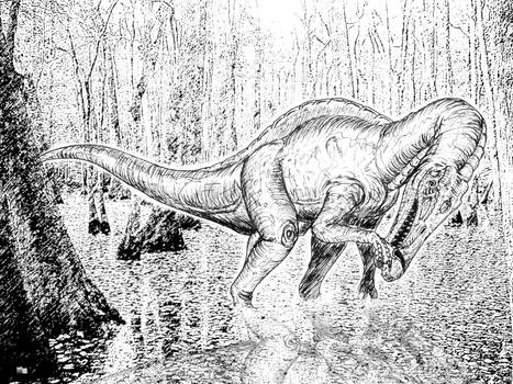 Baryonyx in the swamp