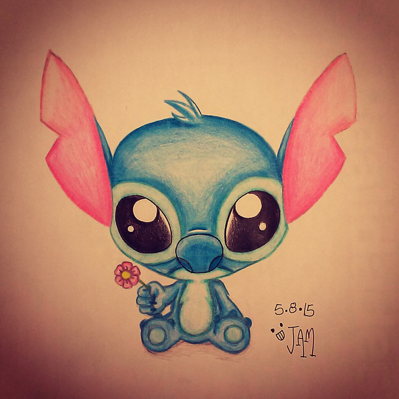 how to draw cute stitch