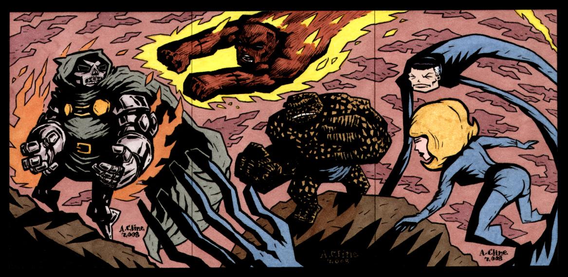 Fantastic Four Versus Dr. Doom by soliton