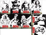 Some Walking Dead Cards - inks