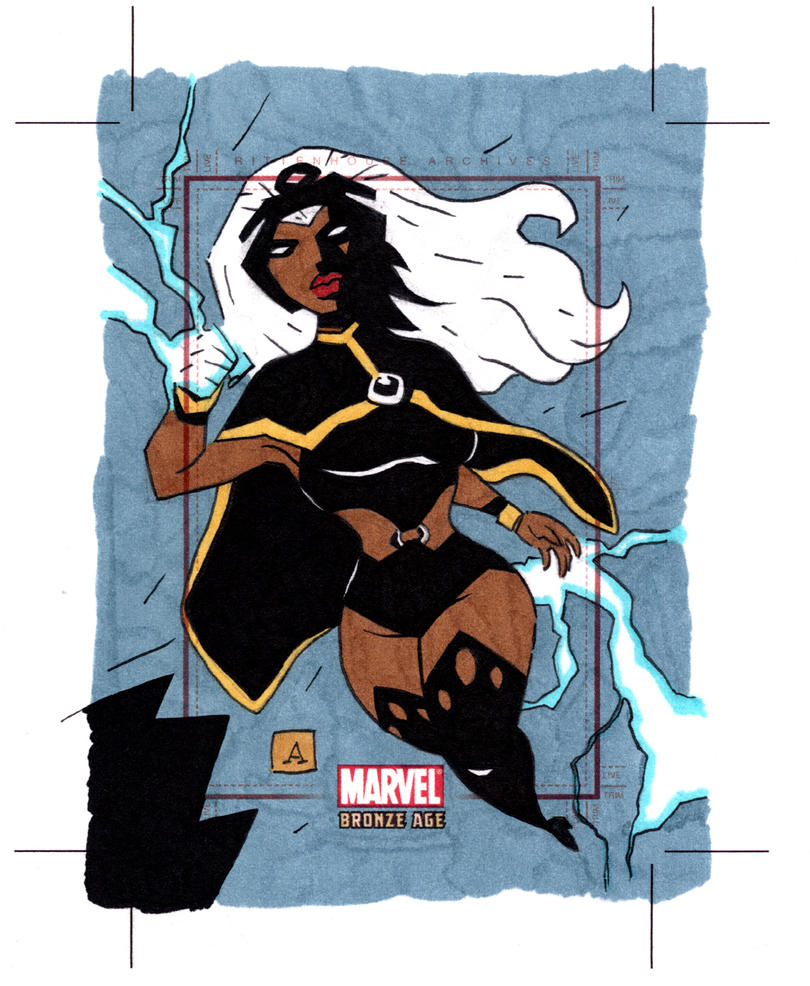 Marvel Bronze Age Storm by soliton
