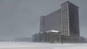Michigan central station by guntama