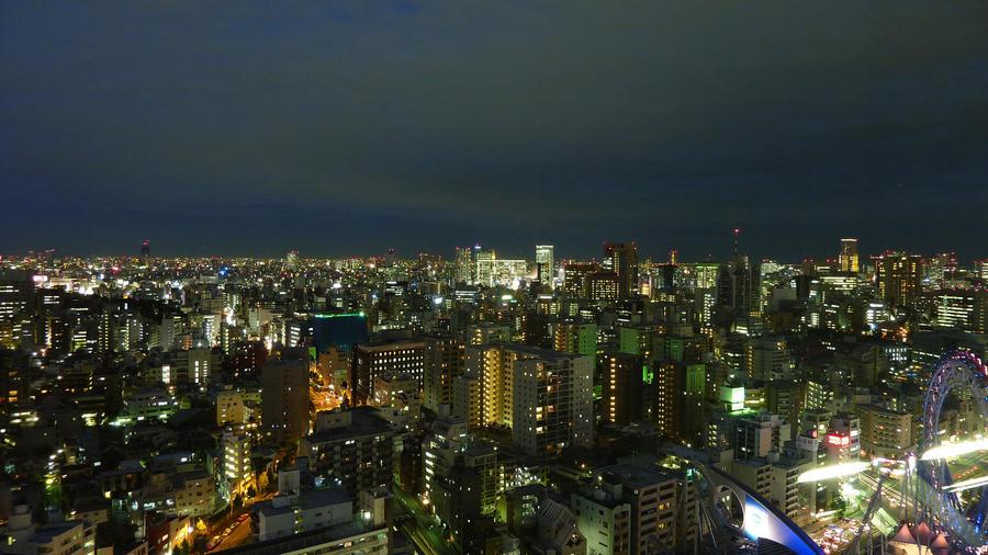 Night view of Tokyo by guntama