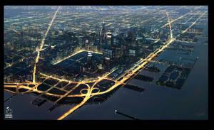 Fourside City-EarthBound- by guntama