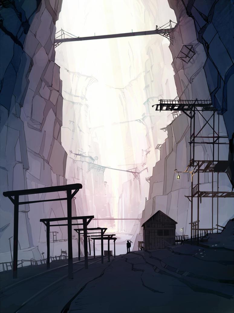 abandoned mine by guntama