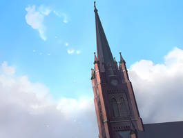bell tower by guntama