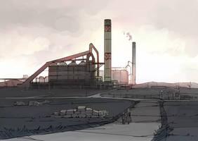 Steel mill by guntama